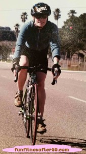Lori during the Solvang Century in 2000