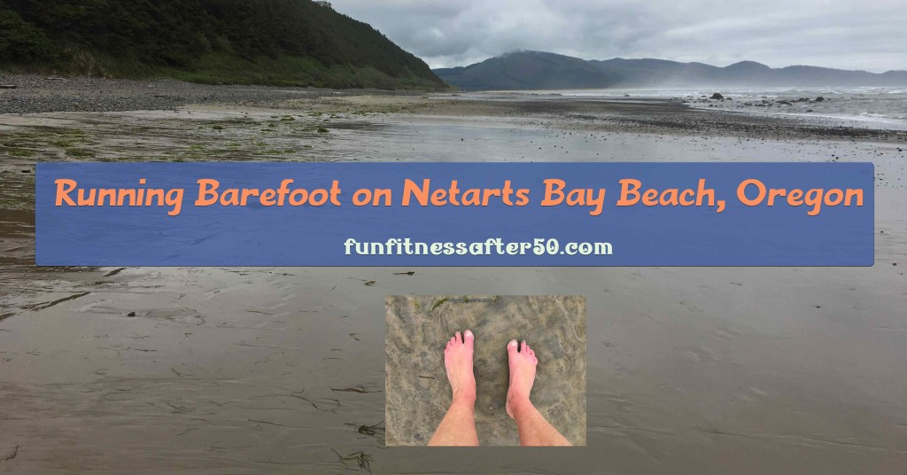 Running Barefoot on Netarts Bay Beach, Oregon